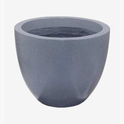 Pot résine effilé gris