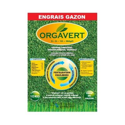 Engrais Orgavert Spécial Gazon