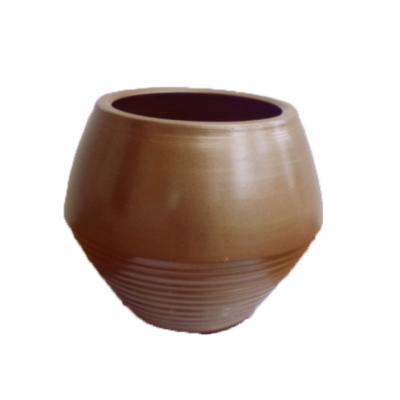 Pot Rond Diamant Lisse Bronze