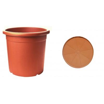Pot & Sous-Pot Perseo Terracotta
