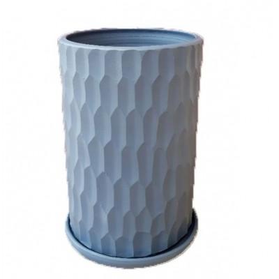 Pot Cylindre Martelé Gris