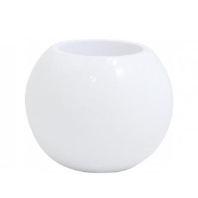 pot résine boule blanc