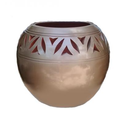 pot boule bronze