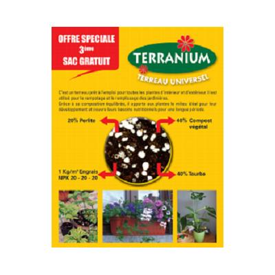 TERRANIUM LOT ( 3 SACS * 10 L )