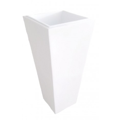 Pot Résine Pyramide Blanc