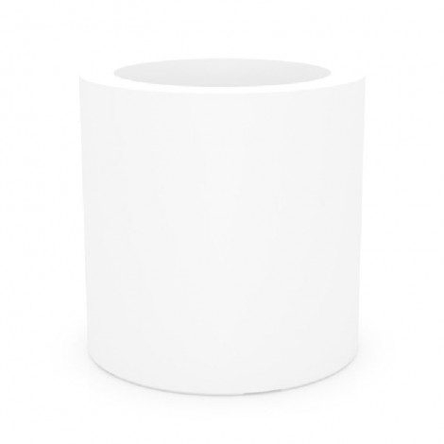 Pot Cylindrique Résine Blanc